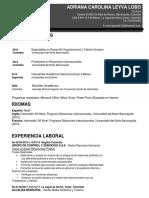 hoja de vida ADRIANA PDF