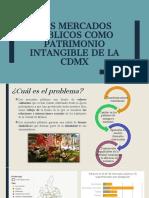 Los mercados públicos como patrimonio intangible de la CDMX