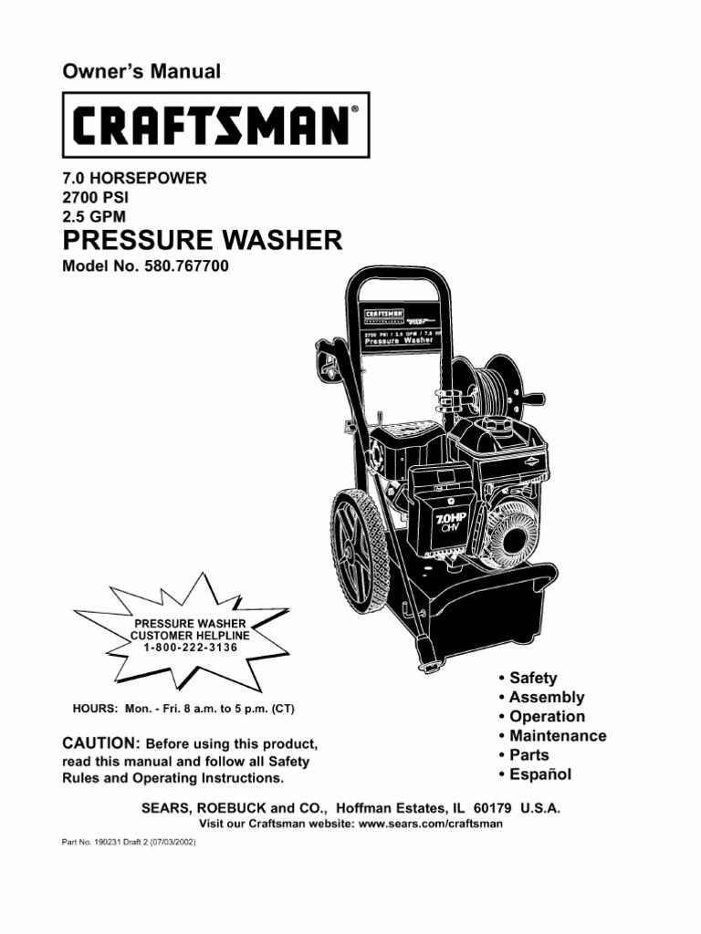 Pressure Washer Manual
