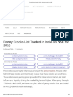 Penny Stocks List for 2019 - All stocks traded on NSE