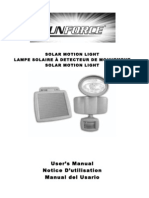 Sunforce Solar Motion Light Manual