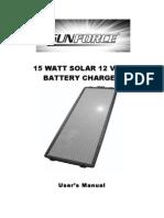 Sunforce 50032 15 Watt Solar Charger