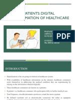 E-Patients- Digital transformation in healthcare