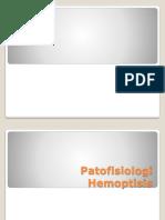hemoptisis