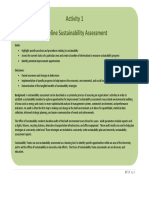 BaselineSustainabilityAssessment