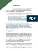 European Union Report