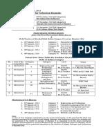 avishkar time table