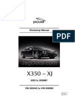 Jaguar x 350 Workshop Manual