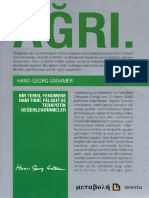 Hans-Georg Gadamer - Ağrı Bir Temel Fenomene Dair Tıbbi, Felsefi ve Terapötik Değerlendirmeler.pdf
