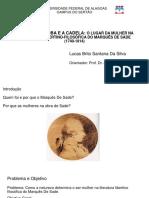 Apresentação TCC - Marquês De Sade