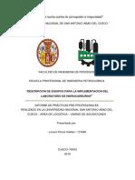 informe de practicas - pre profesionales