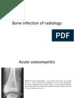 Bone infection of radiology