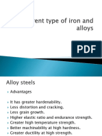 alloys of iron and steel