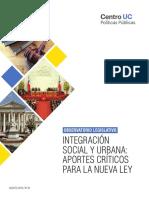 Integración social y urbana. Aportes críticos para la nueva ley