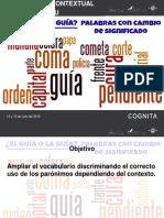 Presentación Vocabulario Contextual Seminario Lenguaje