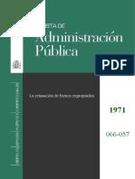 La retasación de bienes expropiados. Revista de Administración P