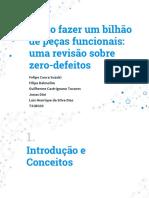 PME3463 Grupo T31BG03 - Zero Defeitos - 1 2018