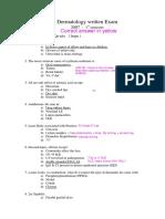 Dermatology-written-Exam-2007
