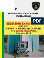 Nigeria Police Academy Past Questions Free Download - POLAC 2019