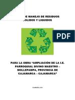 PLAN DE MANEJO DE RESIDUOS SOLIDOS Y LIQUIDOS