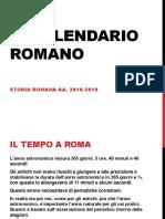 Il calendario Romano
