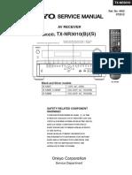 Onkyo TXNR 3010 Service Manual
