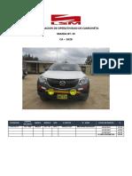 Informe Certificación Camioneta
