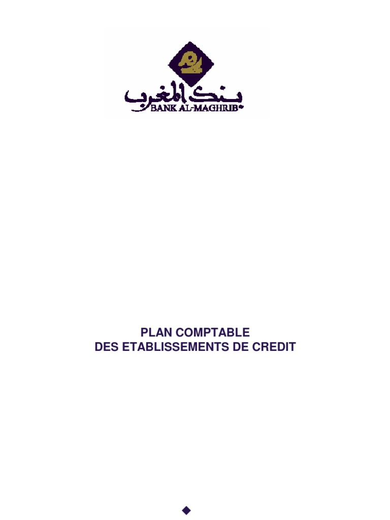 Plan Comptable Des Etablissements de Credit | Action ...