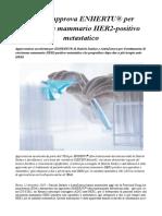 L'FDA approva ENHERTU® per carcinoma mammario HER2-positivo metastatico
