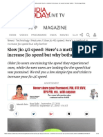 Slow Jio 4G Speed_ Here's a Method to Increase Jio Speed but Why Bother - Technology News