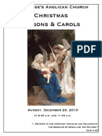 Christmas Lessons and Carols 2019 | December 29