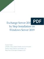 Exchange Server 2019-Step by Step Installation on Windows Server 2019