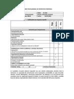 Modelo de Informe Psicolaboral de Entrevista de Selección de Personal