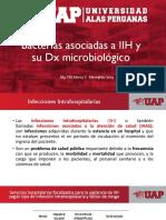 Bacterias asociadas  a IIH y su Dx Microbiologico