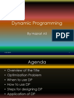 Dynamic Programming use cases and steps for designing dynamic Algorithm