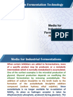 Topic 38 Media for industrial fermentation- inhibitors
