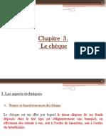 Droit Cambiaire - Chèque