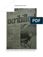 EL ASESINATO DE CHENTE BEAUJON 1983