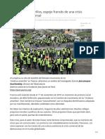 Los chalecos amarillos espejo francés de una crisis democrática universal