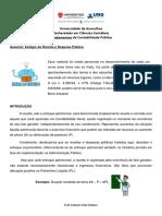 Aula EAD - Alunos -  Fundamentos da Contabilidade Pública - Prof. Roberto F. Mateus