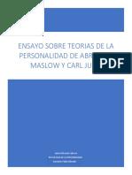 ensayo sobre maslow y jung correspondiente a la evaluacion pendiente acumulativas