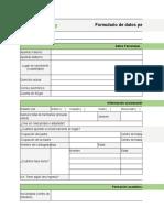 AGROBANCO - Modelo de Ficha de datos personales