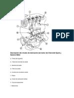Descripción del circuito de lubricación del motor del Chevrolet Spark y Daewoo Matiz
