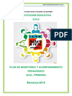 PLAN DE MONITOREO 2019