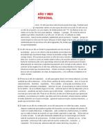 AÑO Y MES PERSONAL - DIGITO DE EDAD- CLASE 9