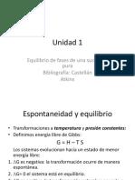 1- Equilibrio de fases de una sustancia pura