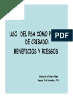 CANCER DE PROSTATA Y PSA
