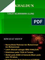 NOTA PENDIDIKAN ISLAM-IBNU KHALDUN