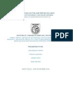 Requisitos Del Plan de Comunicaciones