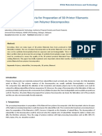 Important Criteria for Preparation of 3D Printer Filaments from Polymer Biocomposites